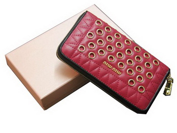 miu miu Matelasse Nappa Leather Wallet 5M0506 Rose
