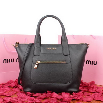 miu miu Original Goat Leather Tote Bag 88028 Black