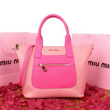 miu miu Original Goat Leather Tote Bag 88028 Light Pink