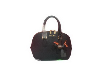 miu miu Original Leather Top Handle Bag RN6821 Black