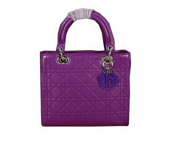 Lady Dior Bag Embossed Leather Small Bag CD6322 Purple