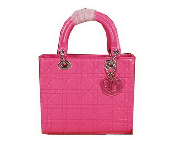 Lady Dior Bag Embossed Leather Small Bag CD6322 Rosy