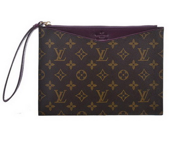 Louis Vuitton Monogram Canvas Clutch M60607 Purple