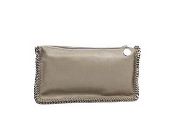 Stella McCartney Falabella PVC Fold Over Clutch 865 Khaki