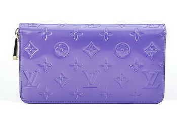 Louis Vuitton Monogram Vernis Zippy Wallet M93575 Lavender