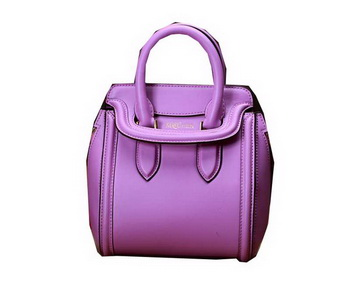 ALEXANDER MCQUEEN Mini Heroine Top Handle Bag 9819 Lavender