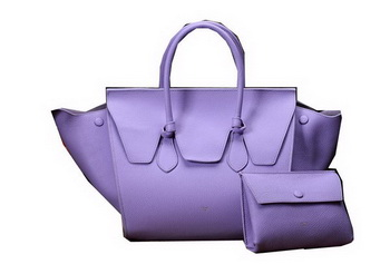 Celine Tie Nano Top Handle Bag Original Leather C3052 Lavender
