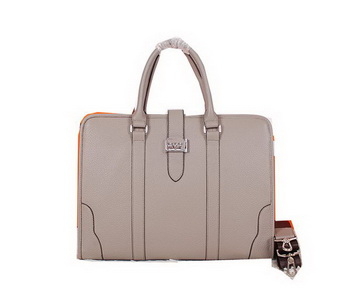 Hermes Briefcase Grainy Leather H88135 Khaki