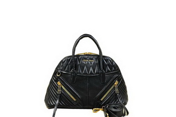miu miu Matelasse Nappa Leather Top Handle Bag RN1006 Black