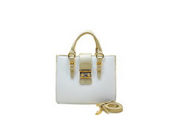 miu miu Pebble Finish Madras Goat Leather Tote Bag RN0799 Gold