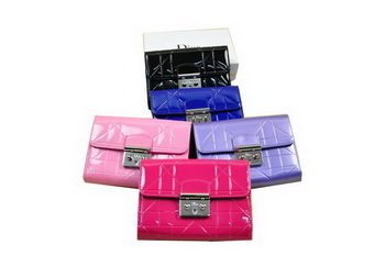 Dior Flap Wallet in Patent Leahter D1009