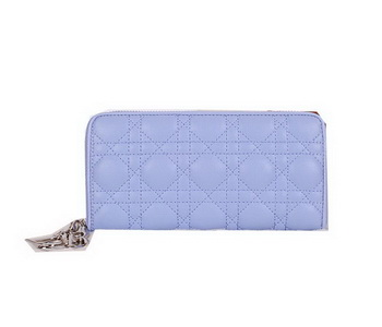 Lady Dior Escapade Wallet Sheepskin Leahter CD811 Light Blue