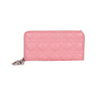 Lady Dior Escapade Wallet Sheepskin Leahter CD811 Pink