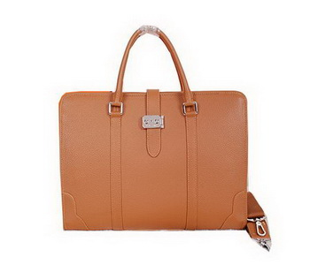 Hermes Briefcase Original Calf Leather H8591 Wheat