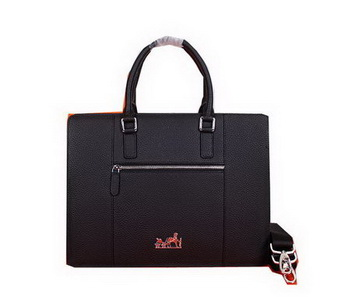 Hermes Briefcase Original Grainy Leather H28081 Black
