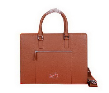 Hermes Briefcase Original Grainy Leather H28081 Wheat