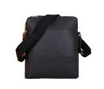 Hermes Messenger Bag Original Calf Leather H8589 Black