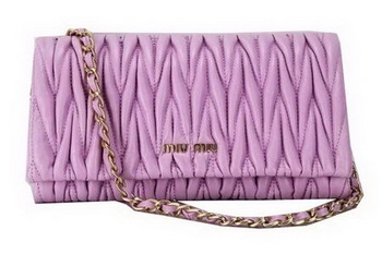 miu miu Matelasse Leather Flap Shoulder Bag BL0531 Lavender