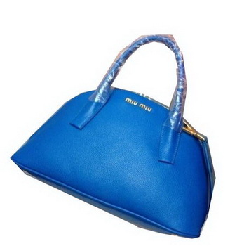 miu miu Original Goat Leather Top Handle Bag RN0091 Blue