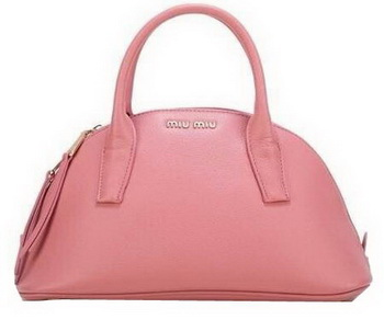 miu miu Original Goat Leather Top Handle Bag RN0091 Pink