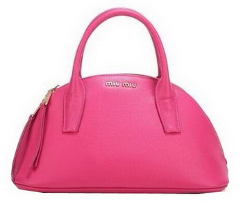 miu miu Original Goat Leather Top Handle Bag RN0091 Rosy