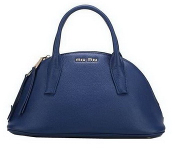miu miu Original Goat Leather Top Handle Bag RN0091 Royal