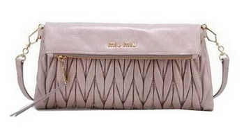 miu miu Pressed Matelasse Nappa leather Shoulder Bag RT0363 Khaki