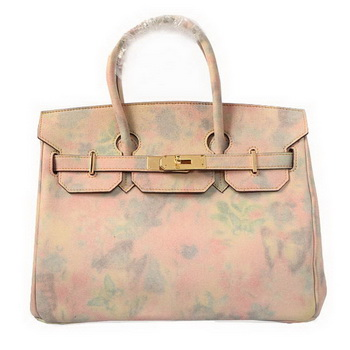 Hermes Birkin 30CM Tote Bag Beige Suede Leather Gold