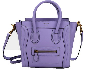 Celine Luggage Nano Bag Original Leather CL88029 Lavender