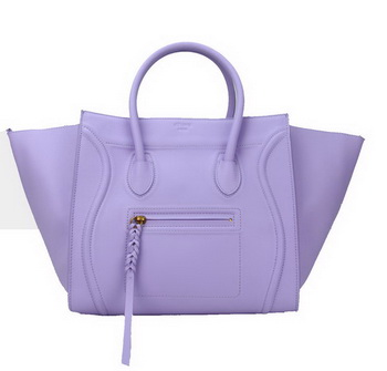 Celine Luggage Phantom Bags Original Leather C88033 Lavender