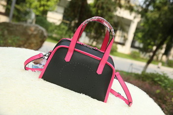 Hermes Boston Bag Grainy Leather H9898 Black