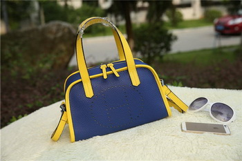Hermes Boston Bag Grainy Leather H9898 Blue