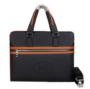 Hermes Briefcase Original Calf Leather H52254 Black