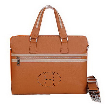 Hermes Briefcase Original Calf Leather H52254 Wheat