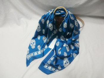 Replica MQUEEN Scarves Silk MQ16013 Blue