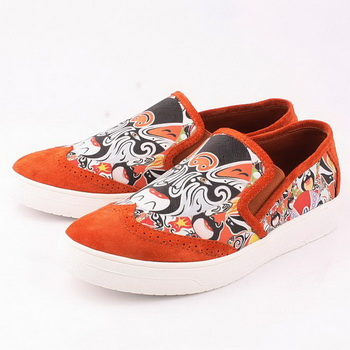 Givenchy Casual Shoes Suede Leather GI16 Orange