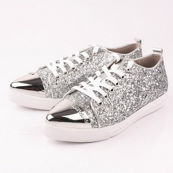 miu miu Casual Shoes Sequins Leather M310 Silver
