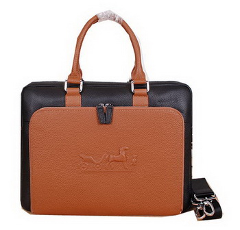Hermes Briefcase Original Calf Leather H3005 Black