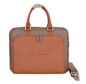 Hermes Briefcase Original Calf Leather H3005 Khaki