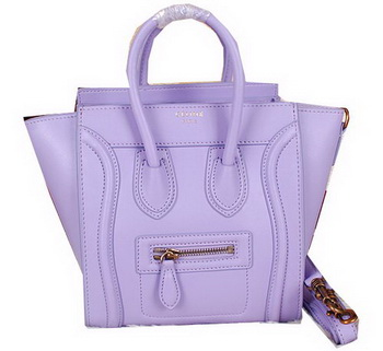 Celine Luggage Nano Bag Ferrari Leather CL3308S Lavender