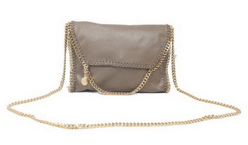 Stella McCartney Falabella Khaki PVC Cross Body Bag 875 Gold
