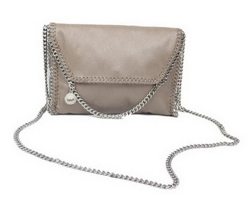 Stella McCartney Falabella Khaki PVC Cross Body Bag 875 Silver