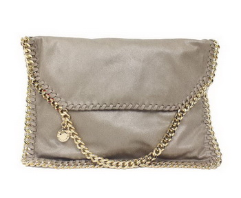 Stella McCartney Falabella Khaki PVC Cross Body Bag 876 Gold
