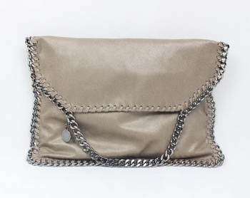Stella McCartney Falabella Khaki PVC Cross Body Bag 876 Silver