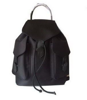 Hermes Canvas & Leather Backpack H1718 Black