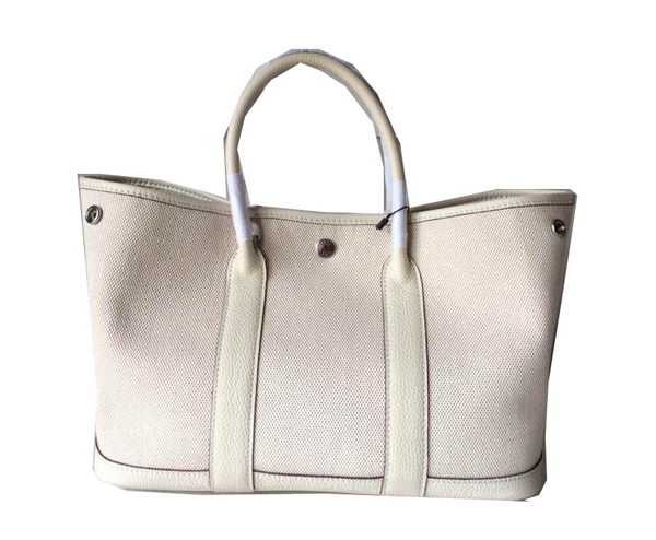 8484807a327b Hermes Garden Party 30CM Bag Canvas Leather H11S OffWhite -  239.00