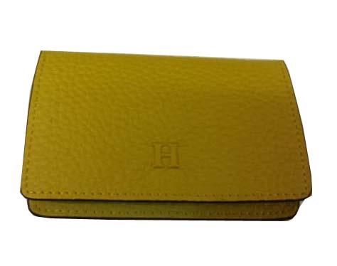 Hermes grainy leather business card holder h887 lemon 11900 hermes grainy leather business card holder h887 lemon colourmoves
