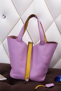 Hermes Picotin Lock MM Bag in Grainy Leather H610M Lavender