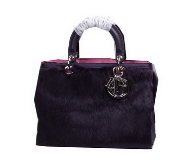 Dior Diorissimo Bags in Rabbit Hair D0902 Purple