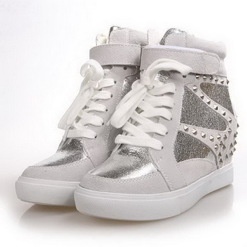 Valentino Suede Leather Sneakers VT179 Silver